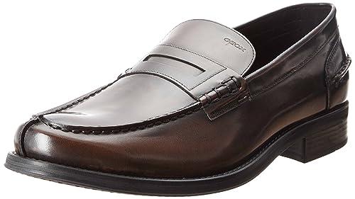 GeoxUOMO SILVIO A - Mocasines Hombre, Color Marrón, Talla 39 UE: Amazon.es: Zapatos y complementos