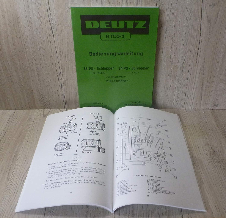 Deutz F2L 612//6 und F2L 612//5 mit Dieselmotor Schlepper Traktor Ersatzteilliste