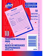 Hilroy Telephone Message Pads, 3-1/2 X 5-Inch, 50 Pink Sheets Per Pad, 10 Pads Per Pack, 30 Packs Per Box -46554