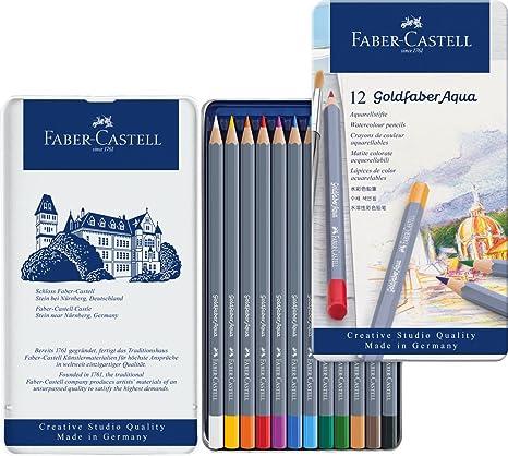 Faber Castell Goldfaber Aqua Boya Kalemi 12 Renk Amazoncomtr