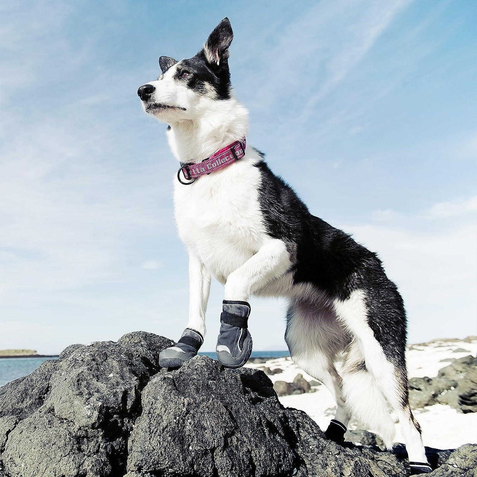 Hurtta Outback Dog Boots Granite 2 in 2 Pack HU932120 - 3