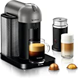 Nespresso Vertuo Coffee and Espresso Machine Bundle with Aeroccino Milk Frother by Breville, Titan