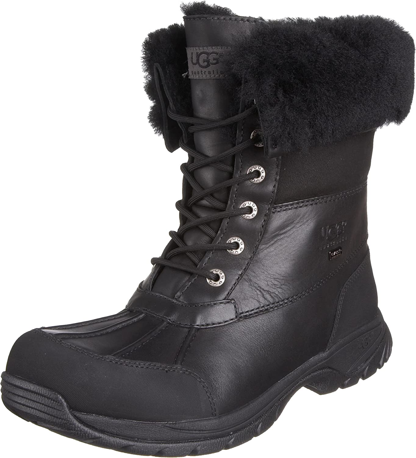 mens black leather winter boots
