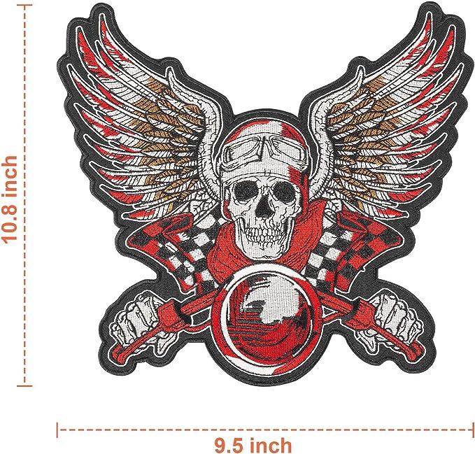 """BORN FREE Bottom RockerMotorcycle Jacket Back Patch Old English Large 12/"""""""