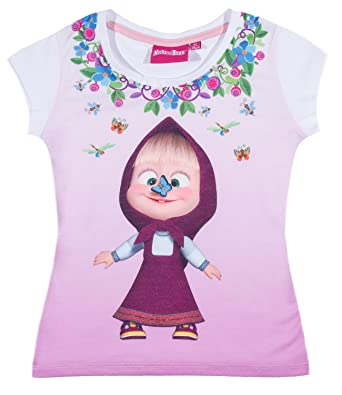 Masha and the Bear kurzarm T-Shirt Masha und der Bär