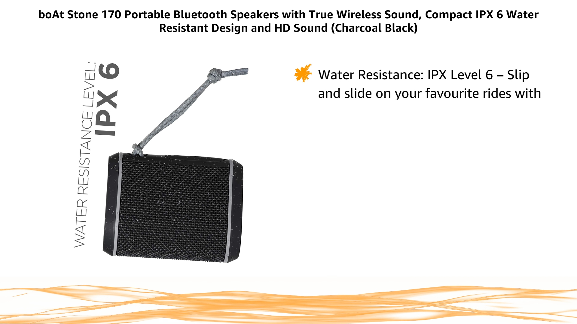 boAt Stone 170 5W Portable Bluetooth Speakers with True Wireless Sound, Compact IPX6 Water Resistant Design and HD…