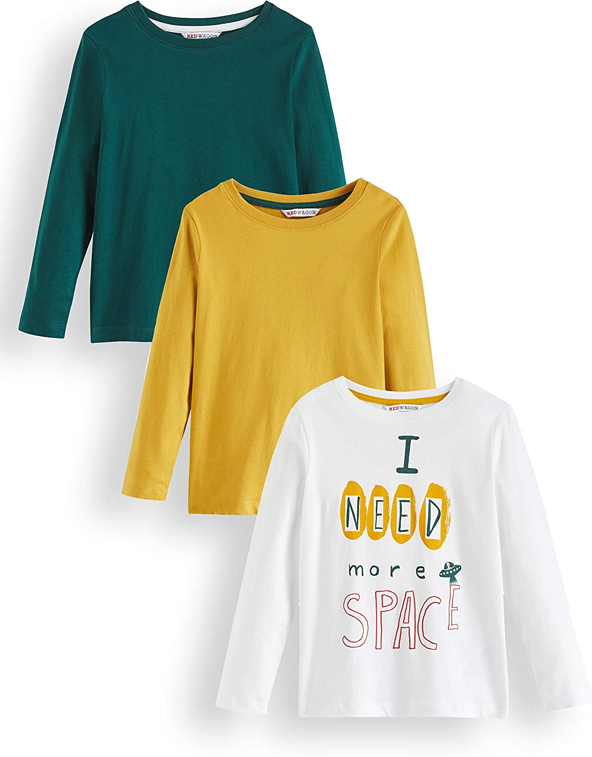 RED WAGON Boys Long Sleeve Top Pack of 3