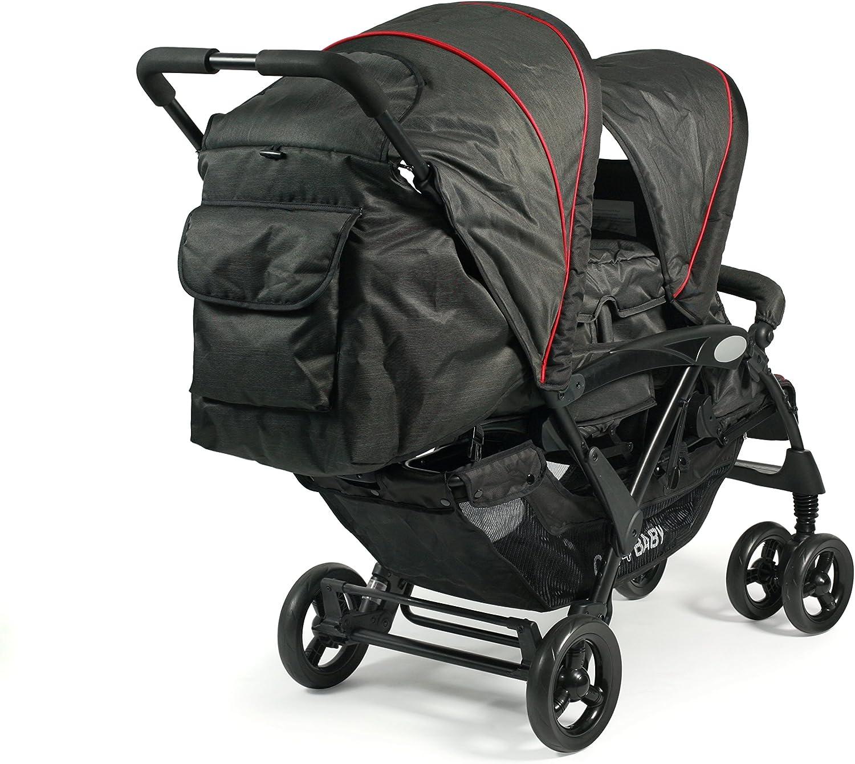 Colores negro Jeans black CHIC 4/Baby Carrito Duo Incluye Baby Bolsa de transporte y de lluvia varios