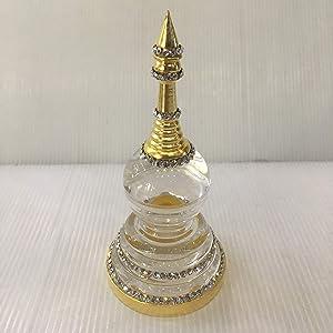 The Way It is Buddha Relic Storage Container Stupa Pagoda Ash Sarira Casket Box Crystal Acrylic Rhinestone Thai Amulet Altar Shrine Worship Holy Sacred 4