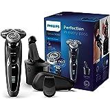 Philips Serie 9000 S9531/26 - Afeitadora Eléctrica para Hombre Rotativa, Estación de Limpieza Smart Clean, Perfilador Patillas, Estuche de Viaje, Negro