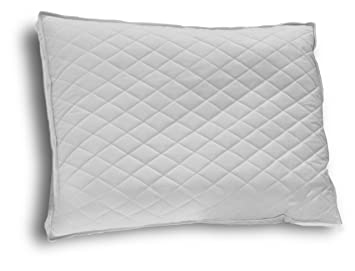 down etc diamond support duck down standard feather pillow white