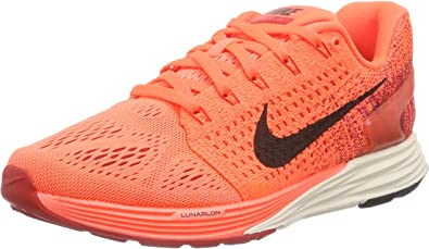 Nike Wmns Lunarglide 7, Zapatillas de Running para Mujer, Naranja (Hyper Orange/Black-Unvrsty Red), 41 1/2 EU: Amazon.es: Zapatos y complementos