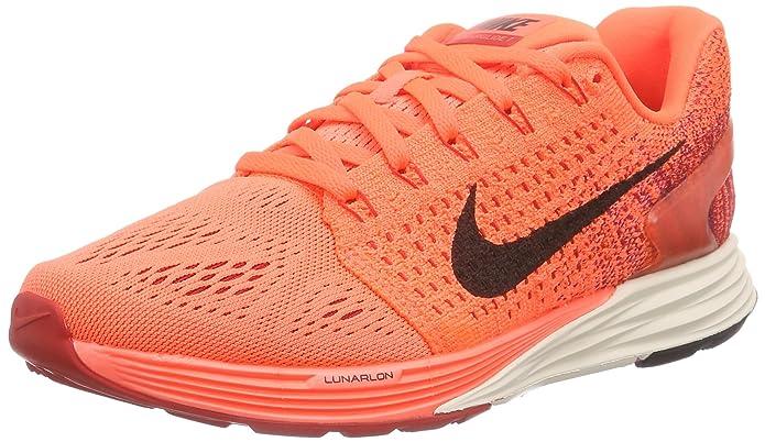 e6a42f0f24 Nike Women's's Lunarglide 7 Running Shoes Hyper Orange/Black-Unvrsty Red  801, 7.5 UK: Amazon.co.uk: Shoes & Bags