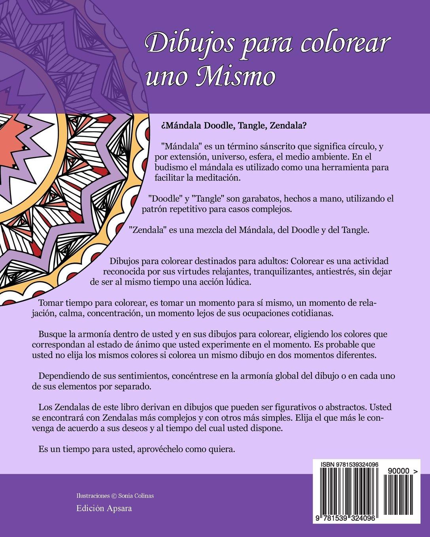 Amazon.com: Dibujos para colorear uno Mismo - Zendalas - Volumen 1 ...