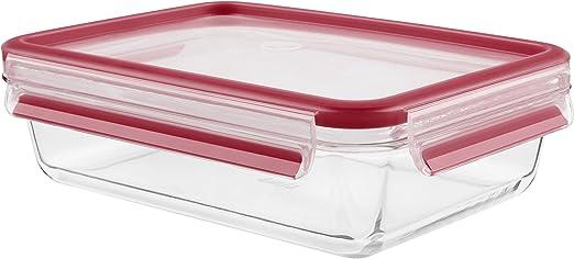 Tefal Masterseal Fresh Glass/-/Caja de Cristal para conservar Alimentos Rojo Cristal 0.2L