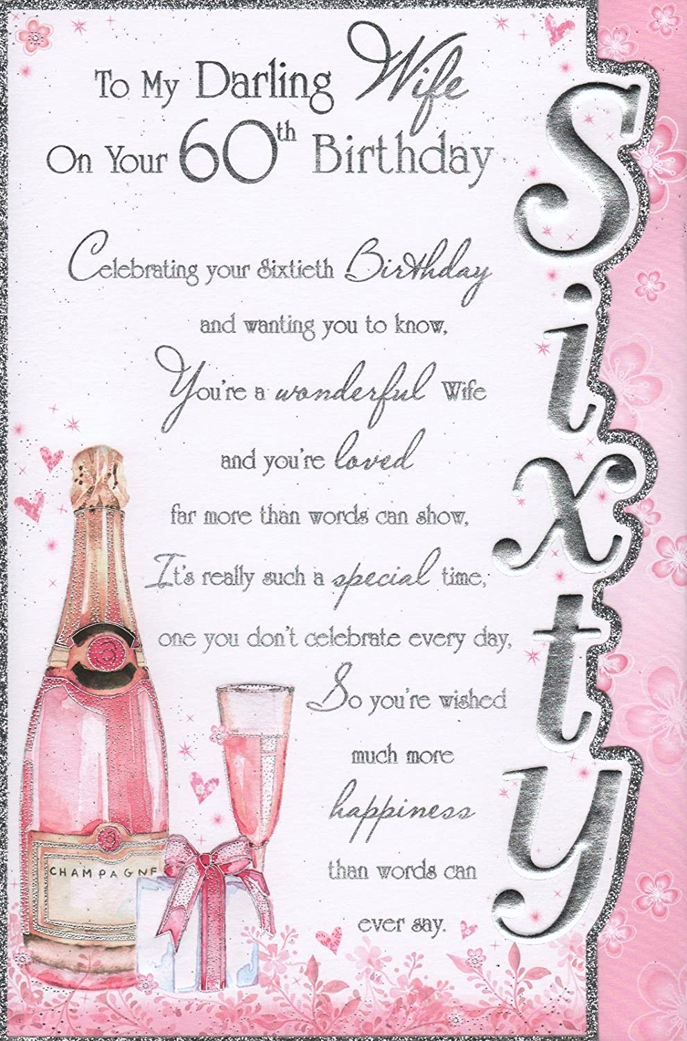 Wife 60th Birthday Card To My Darling Wife On Your 60th – Birthday Cards 60th