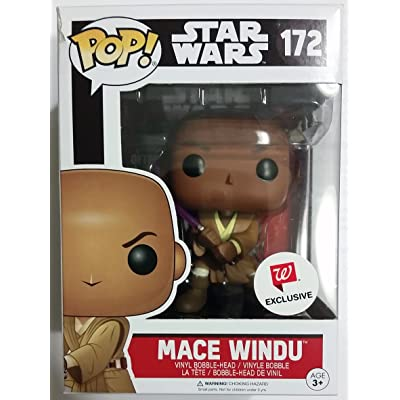 Funko POP! Star Wars Mace Windu Exclusive Vinyl Bobble Head #172: Toys & Games