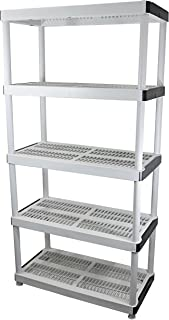 HDX 5-Shelf Plastic Ventilated Storage Shelving Unit  sc 1 st  Amazon.com & D 5-Shelf Plastic Ventilated Storage Shelving Unit This Multi ...