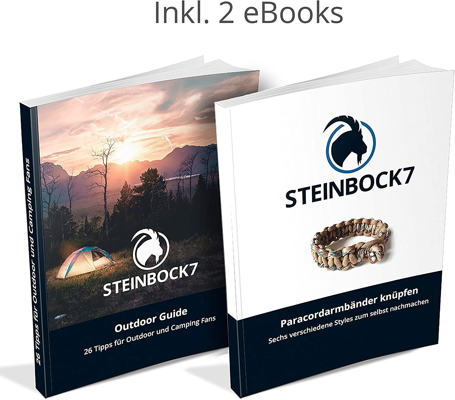 Steinbock7 Capricorn 7 Key Ring Bottle Opener Survival Kit Multitool Carabiner Compass and Whistle Paracord