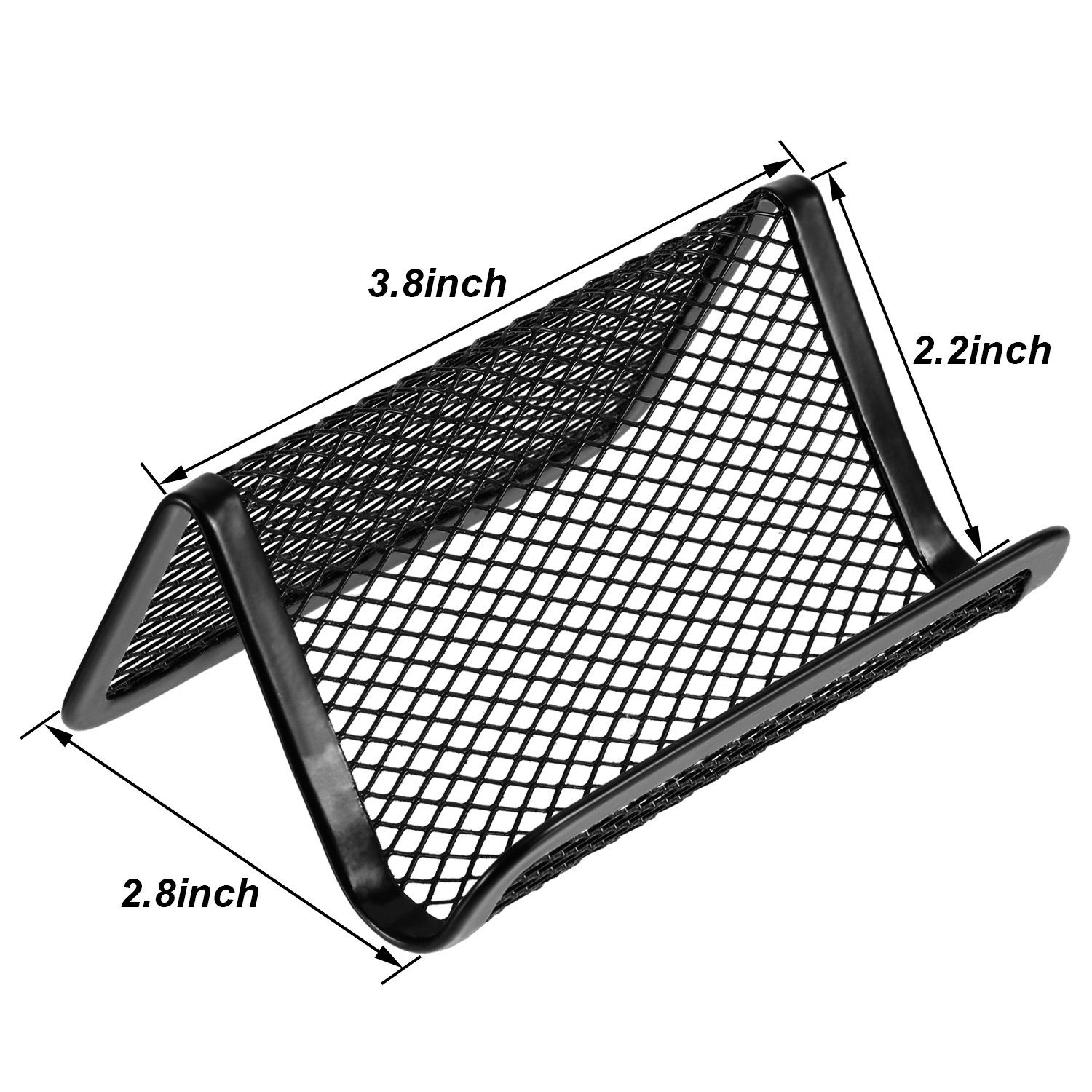 8 Pack Black Metal Mesh Business Card Holder Business Card Organizer for Office Name Card