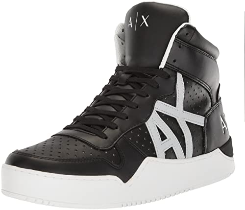 A X Armani Exchange Men s High Top Perforated Lace Up Sneakers, Black, 8 223858861d3