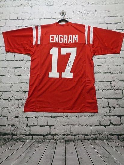 official photos c1fc9 9de6d Signed Evan Engram Jersey - red Witness - JSA Certified ...