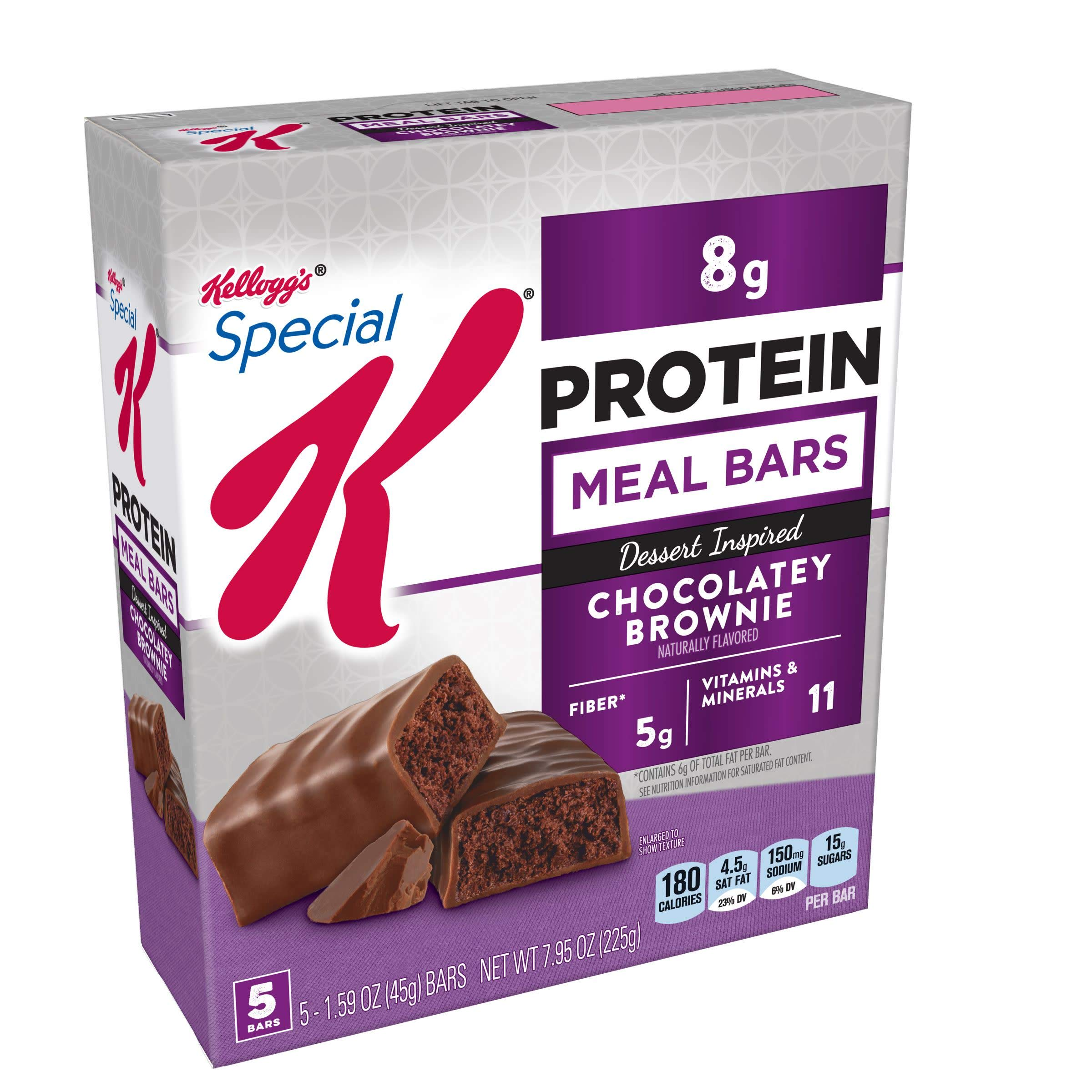 Special K Protein Meal Bars, Chocolatey Brownie, 7.95 oz (5 Count)(Pack of 6)