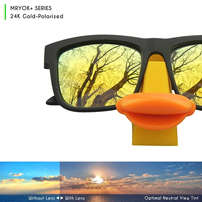 1710aed69f Mryok+ Polarized Replacement Lenses for Oakley TwoFace - 24K Gold   Amazon.com.au  Fashion