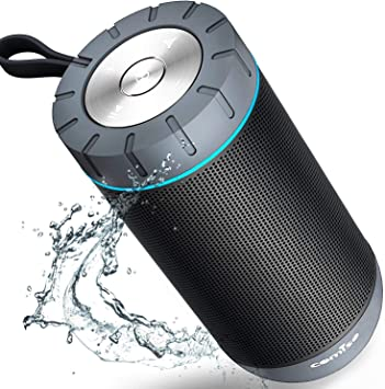 Amazon Com Comiso Waterproof Bluetooth Speakers Outdoor Wireless Portable Speaker With 20 Hours Playtime Superior Sound For Camping Beach Sports Pool Party Shower Dark Grey Electronics