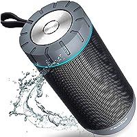 Altavoz Bluetooth Portatil, COMISO Ture Wireless Estereo 12W Subwoofer Inalambrico Portatil con Radiador Pasivo, Altavoz Bluetooth Impermeable con 20 Horas de Emision Continua, Gris oscuro