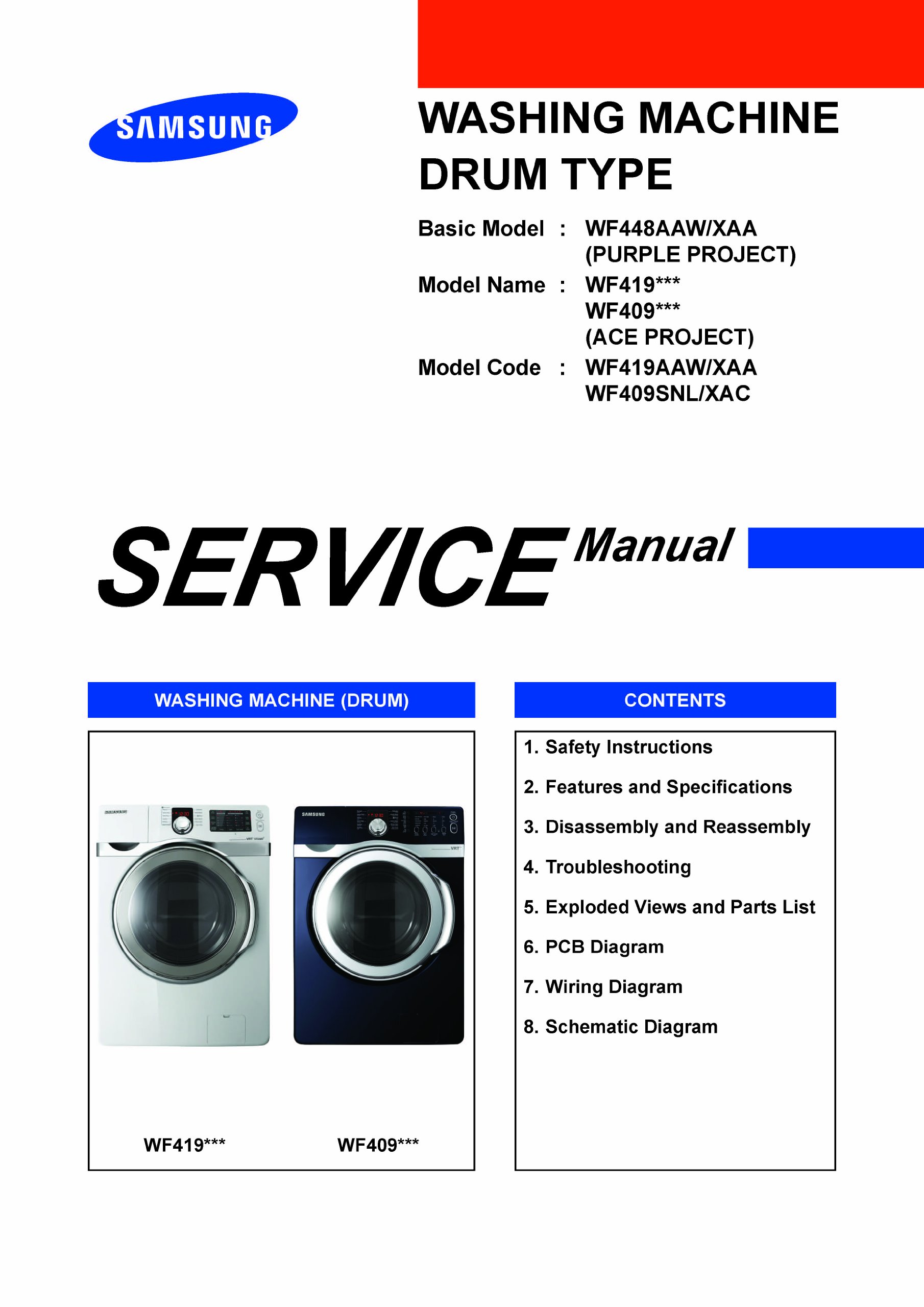Dryer Wiring Diagram Samsung Service Manual - Wiring