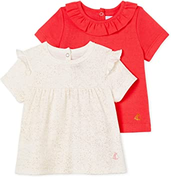 B/éb/é Fille Petit Bateau Tee Shirts ML Lot de 2