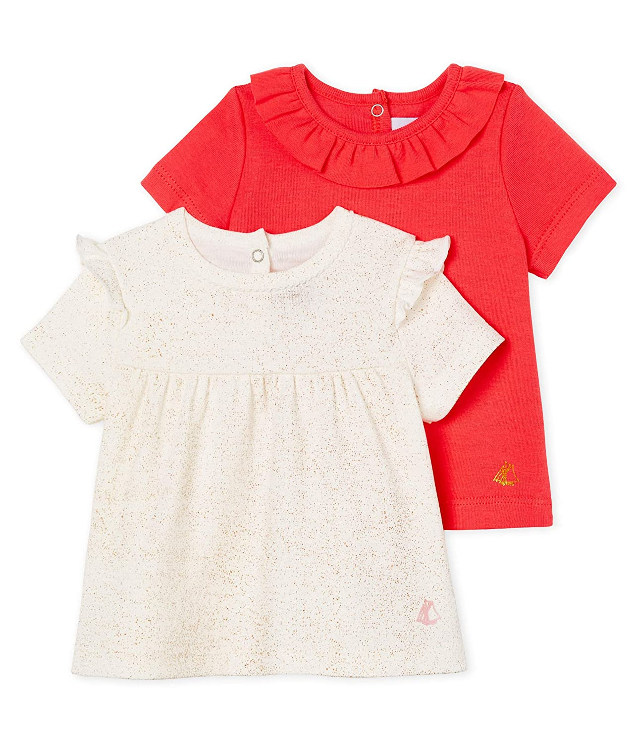 Petit Bateau Baby Girls Lot Ts Ais Kniited Tank Top Pack of 2