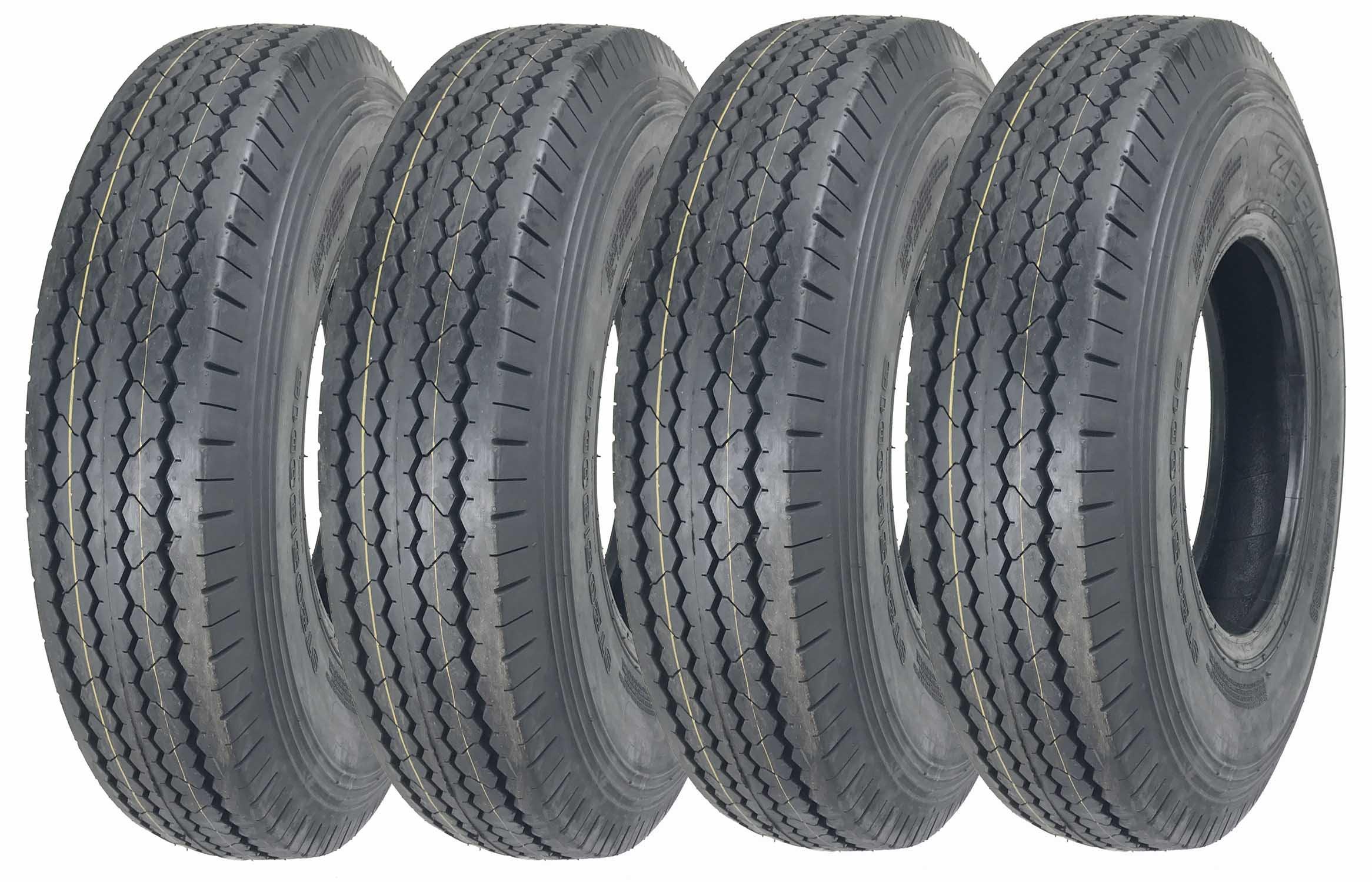 4 New ZEEMAX Heavy Duty Trailer Tires ST225/90D16 (7.50-16) 10 PR Load Range E - 11070