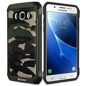 Epxee Funda Samsung Galaxy J5 2016, Silicona [Shock-Absorción] Case Carcasa para Samsung Galaxy J5 2016 (Camuflado-001)