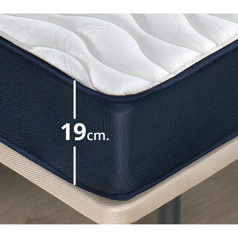 Mueble Canape con Base Tapizada + Colchon Visco 135x190 cms, Subida Domicilio ref-14 Color Roble: Amazon.es: Hogar