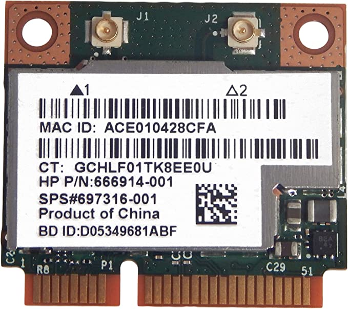 615939-001 BCM943225HMB HP Broadcom 802.11 b//g//n WiFi Bluetooth 3.0 Card