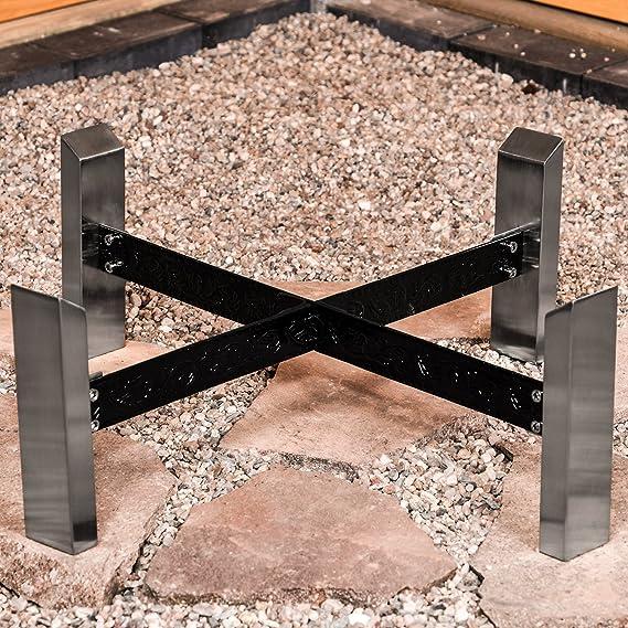 Köhko Hoguera Sevilla Ø 790 mm Interfaz en Soporte de Acero Inoxidable y Cortado eisenstreben lucernario 41007: Amazon.es: Jardín