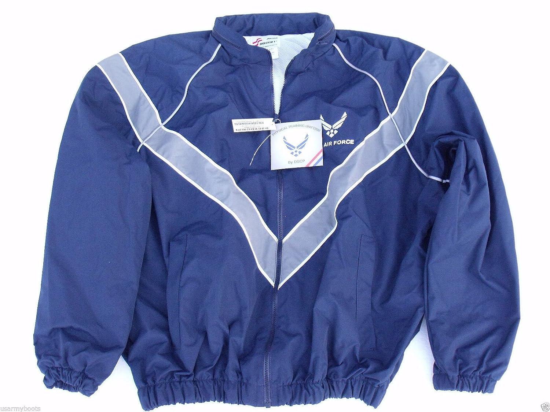 USAF Air Force Jacket Workout Jogging Windbreaker Blue Uniform Rain Coat PT USGI