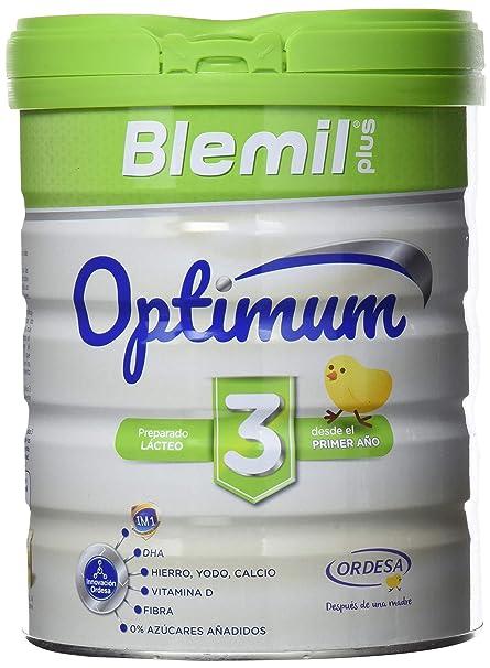 Blemil Plus Optimum 3, Leche de crecimiento para bebé - 800 gr ...