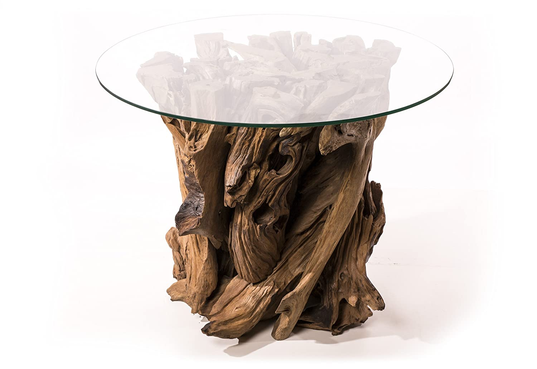 Terassen & Tee Tisch ~ DIRÂ ~ Höhe 80 cm - Unikat - Wurzelholz