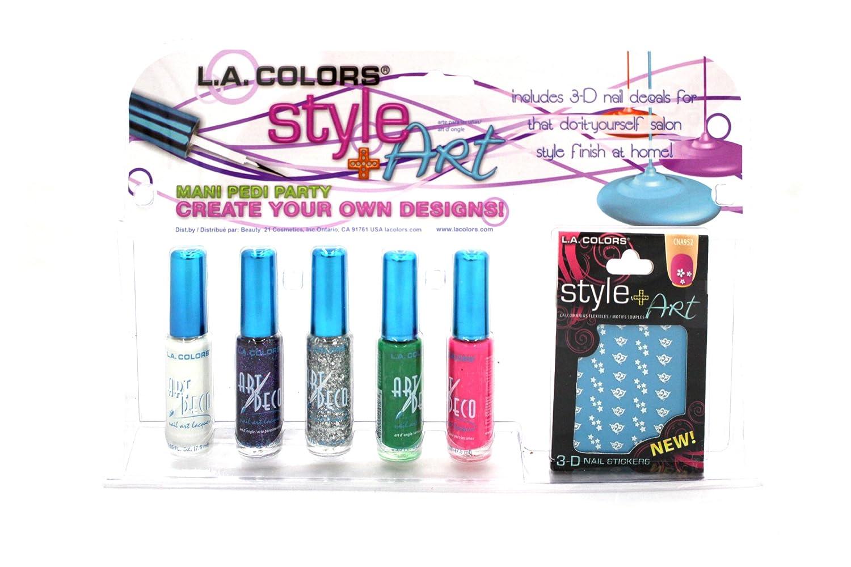 Amazoncom La Colors Limited Edition Mani Pedi Party Nail Art Kit