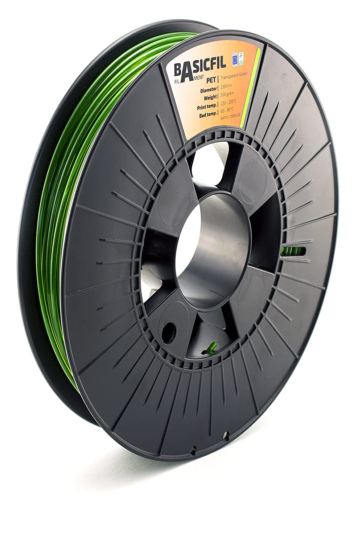BASICFIL PET  2.85mm 500 gr Transparent Red 3D printing filament