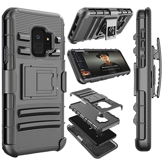 new product ebc21 41506 Njjex For Galaxy S9 Case, For Samsung S9 Case, [Ngate Series] Armor Shock  Swivel Locking Holster Belt Clip Kickstand Heavy Duty Defender Full Body ...