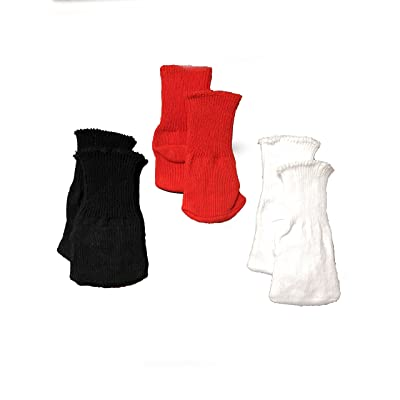 American Fashion World Three Pairs of Socks: Red, Black, and White fits 18 Inch Doll: Toys & Games