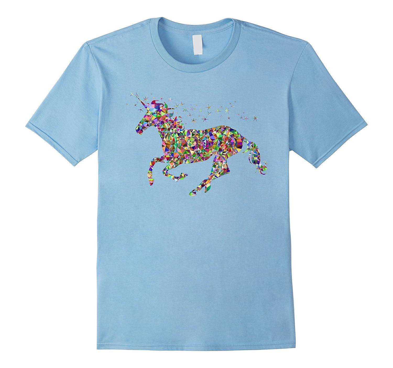 Colourful Horse Unicorn T shirt for girls women and men-RT