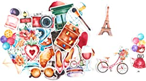 June Vintage & Romantic Paris Stickers / Lovely Stickers for Bullet Journals, Scrapbook, Planners / Cute Waterproof Stickers for Water Bottles, Phone Cases, Laptops