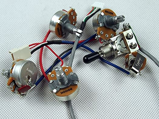 81B88KJfqPL._SX524_ genuine epiphone wiring harness alpha pots switch jack new amazon Wiring Harness Diagram at soozxer.org