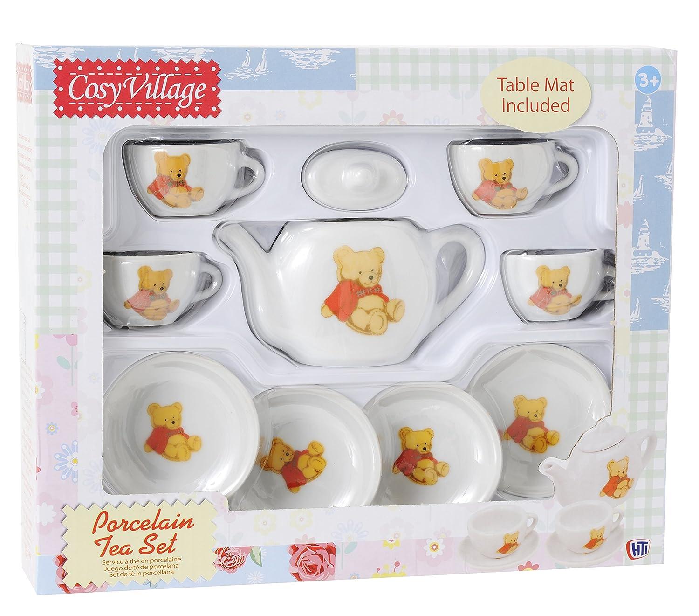 Cosy Village Teddy Bear Porcelain Tea Set