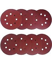 Aewio 5 inch 8 Holes Sanding Discs 400 600 800 1000 1200 1500 2000 3000 Sandpaper for Random Orbital Sanders (64 Pcs 8 Kind #400-#3000)